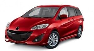 wypożyczenie auta samochodu malaga Mazda 5 Minivan